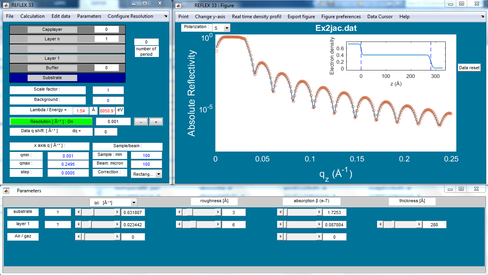 REFLEX software: X-rays and Neutron reflectivity data analysis